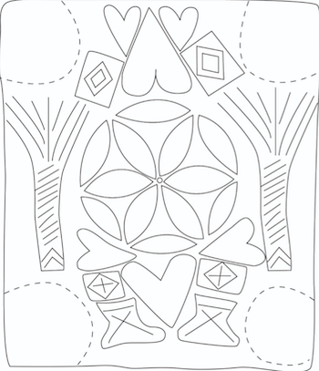 Fig. 8. The upper side of the Magdala Stone. Drawing from the replica by Dina Shalem. Courtesy Mordechai Aviam