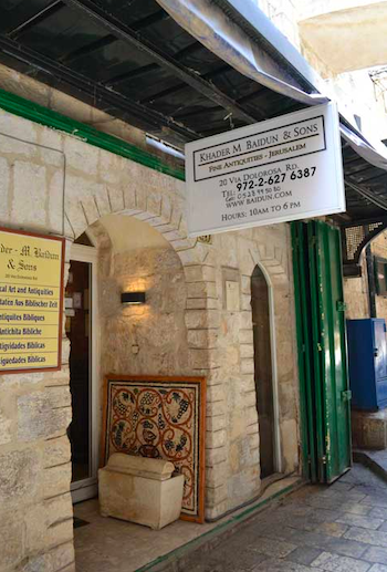 The Baidun Shop. Ossuary for Sale in the Old City, Jerusalem