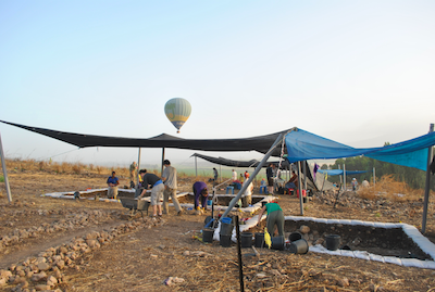 View of Area S with Hot Air Balloon.