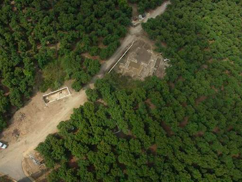 Overhead view of excavation areas at Tel Kabri