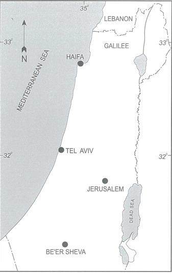 Fig.1: Map of Israel