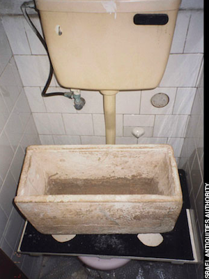 The James, son of Joseph, brother of Jesus ossuary hidden in a rooftop toilet in Tel Aviv. Courtesy of the Israel Antiquities Authority.